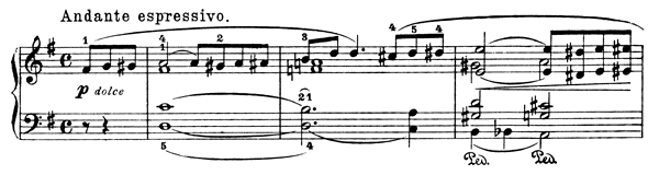 Secret Op. 57 No. 4  in G Major by Grieg piano sheet music