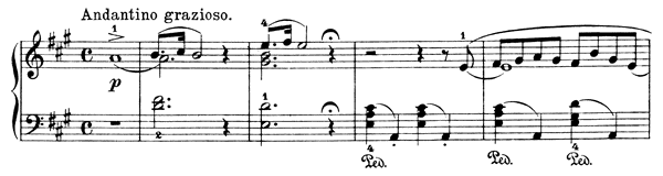 French Serenade Op. 62 No. 3  in A Major by Grieg piano sheet music