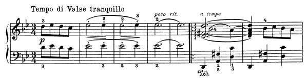 Valse Mélancolique Op. 68 No. 6  in G Minor by Grieg piano sheet music