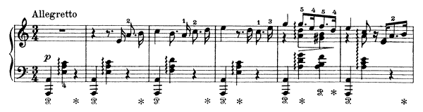 Wooer's Song Op. 17 No. 10  in A Minor by Grieg piano sheet music