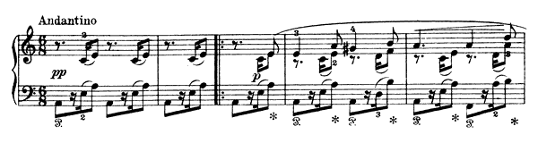 Last Saturday Evening Op. 17 No. 15  in A Minor by Grieg piano sheet music