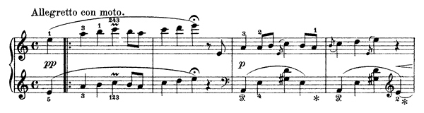 The Horsefly and the Fly Op. 17 No. 17  in A Minor by Grieg piano sheet music