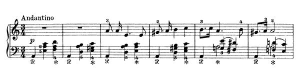 Holje Dale Op. 17 No. 19  in A Minor by Grieg piano sheet music