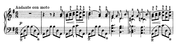 Cow Call Op. 17 No. 22  in G Major by Grieg piano sheet music