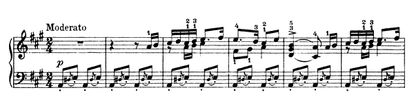 Wedding Song Op. 17 No. 24  in A Major by Grieg piano sheet music