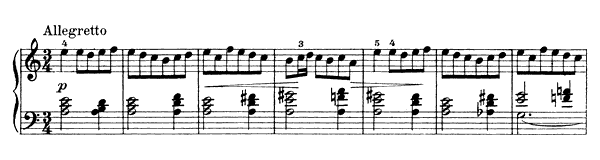 Folk Dance Op. 17 No. 3  in A Minor by Grieg piano sheet music
