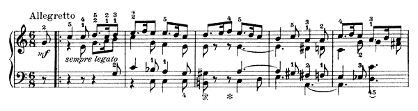 Wedding Song Op. 17 No. 6  in A Minor by Grieg piano sheet music