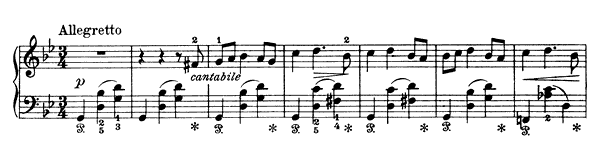 The Pig Op. 17 No. 8  in G Minor by Grieg piano sheet music