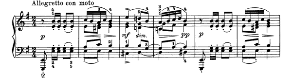 Piano Piece Op. 1 No. 4  in A Minor by Grieg piano sheet music