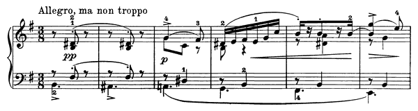Poetic Tone-Picture Op. 3 No. 1  in E Minor by Grieg piano sheet music