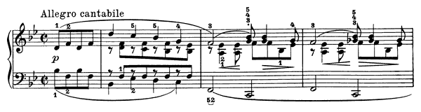 Poetic Tone-Picture Op. 3 No. 2  in B-flat Major by Grieg piano sheet music
