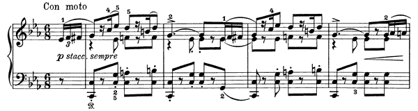 Poetic Tone-Picture Op. 3 No. 3  in C Minor by Grieg piano sheet music
