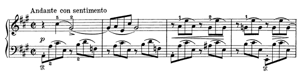 Poetic Tone-Picture Op. 3 No. 4  in A Major by Grieg piano sheet music