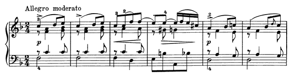 Poetic Tone-Picture Op. 3 No. 5  in F Major by Grieg piano sheet music