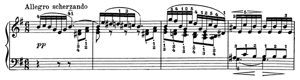 Poetic Tone-Picture Op. 3 No. 6  in E Minor by Grieg piano sheet music