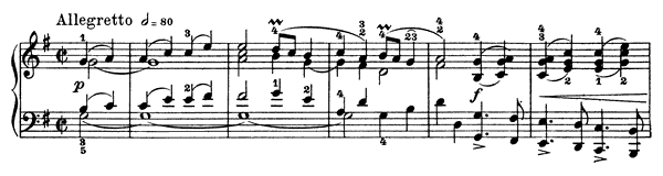 Gavotte Op. 40 No. 3  in G Major by Grieg piano sheet music