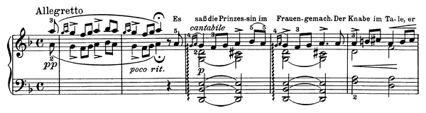 The Princess Op. 41 No. 5  in D Minor by Grieg piano sheet music