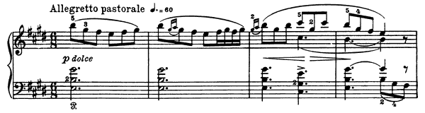 Morning Mood Op. 46 No. 1  in E Major by Grieg piano sheet music