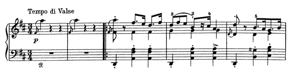 Humoresque Op. 6 No. 1  in D Major by Grieg piano sheet music