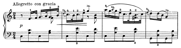 Humoresque Op. 6 No. 3  in C Major by Grieg piano sheet music