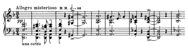 Night Ride Op. 73 No. 3  in D Minor by Grieg piano sheet music