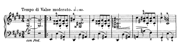Valse-Caprice Op. 37 No. 1  in C-sharp Minor by Grieg piano sheet music