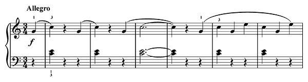 The Chase Op. 117 No. 15  in C Major by Gurlitt piano sheet music