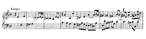 Fugue (G 17)   in A Minor by Handel piano sheet music
