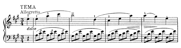 Arietta with Variations Hob. 17 No. 2  in A Major by Haydn piano sheet music