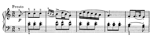 Fantasia Hob. 17 No. 4  in C Major by Haydn piano sheet music