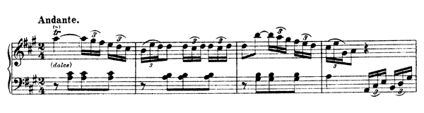 Sonata Hob. 16 No. 12  in A Major by Haydn piano sheet music