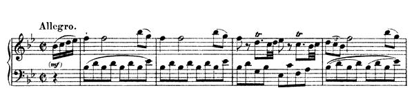 Sonata Hob. 16 No. 17  in B-flat Major by Haydn piano sheet music