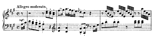 Sonata Hob. 16 No. 26  in A Major by Haydn piano sheet music