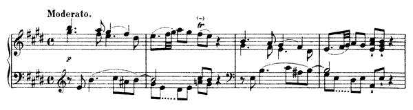 Sonata Hob. 16 No. 31  in E Major by Haydn piano sheet music