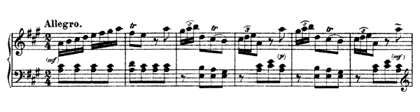 Sonata Hob. 16 No. 5  in A Major by Haydn piano sheet music
