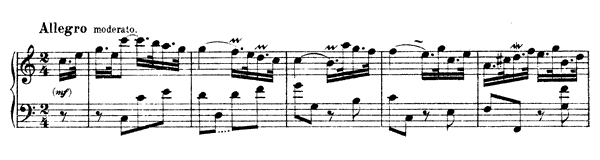 Sonata Hob. 16 No. 21  in C Major by Haydn piano sheet music