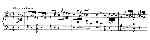 piano sheet music of Sonata