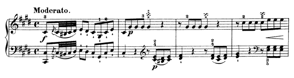 Sonata Hob. 16 No. 36  in C-sharp Minor by Haydn piano sheet music