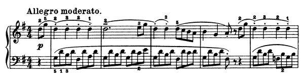 Sonatina Op. 300  in G Major by Köhler piano sheet music