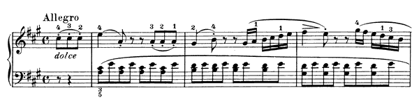 Sonatina Op. 59 No. 1  in A Major by Kuhlau piano sheet music