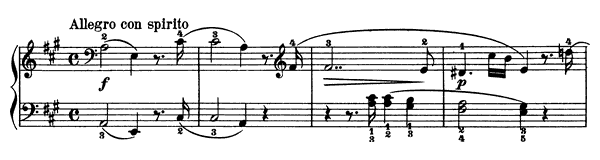 Sonatina Op. 60 No. 2  in A Major by Kuhlau piano sheet music