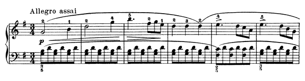 Sonatina Op. 88 No. 2  in G Major by Kuhlau piano sheet music