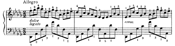 Prelude 3 Op. 40 No. 4  in D-flat Major by Liadov piano sheet music