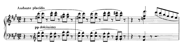 Angiolin  S. 531 No. 6  in A Major by Liszt piano sheet music
