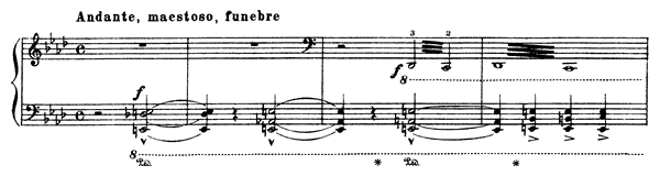 Marche funèbre  No. 6  by Liszt piano sheet music