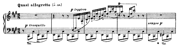 Gondoliera  No. 1  by Liszt piano sheet music