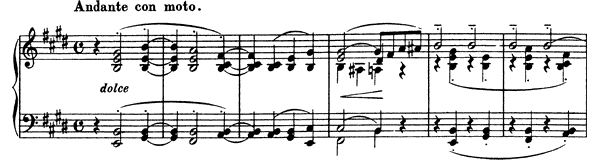 Consolation  No. 1  in E Major by Liszt piano sheet music