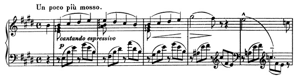 Consolation  No. 2  in E Major by Liszt piano sheet music