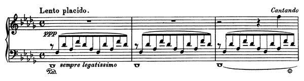 Consolation  No. 3  in D-flat Major by Liszt piano sheet music