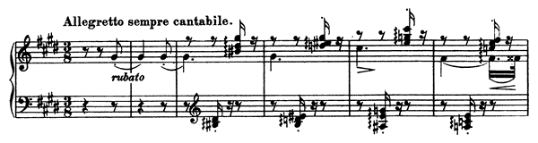 Consolation  No. 6  in E Major by Liszt piano sheet music